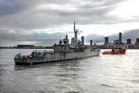 F126 'HMS Plymouth' river Mersey 20th August 2014