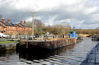 'Arley' + barge Dutton locks 7th February 2017