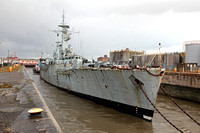 F126 'HMS Plymouth' Alfred lock 20th August 2014