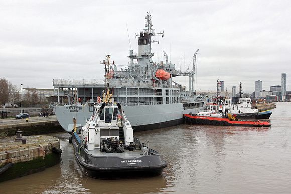 'RFA Black Rover' Alfred basin 13th March 2017