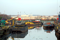 Laid up vessels at Manchester dry docks
